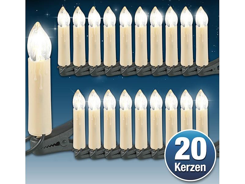Weihnachtsdeko Led Kerzen.Led Weihnachtsbaum Lichterkette Mit 20 Led Kerzen